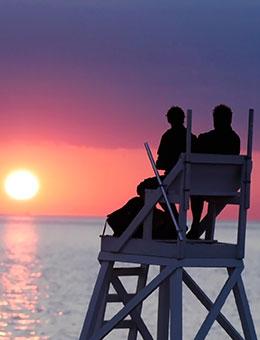 MV Ferry | Sunset Lifeguard-Chair